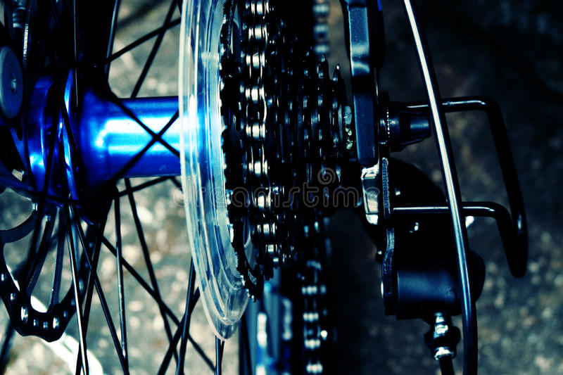自行车轮幅 免版税库存图片