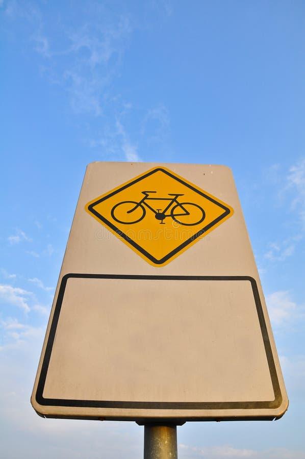 自行车运输路线符号 免版税图库摄影