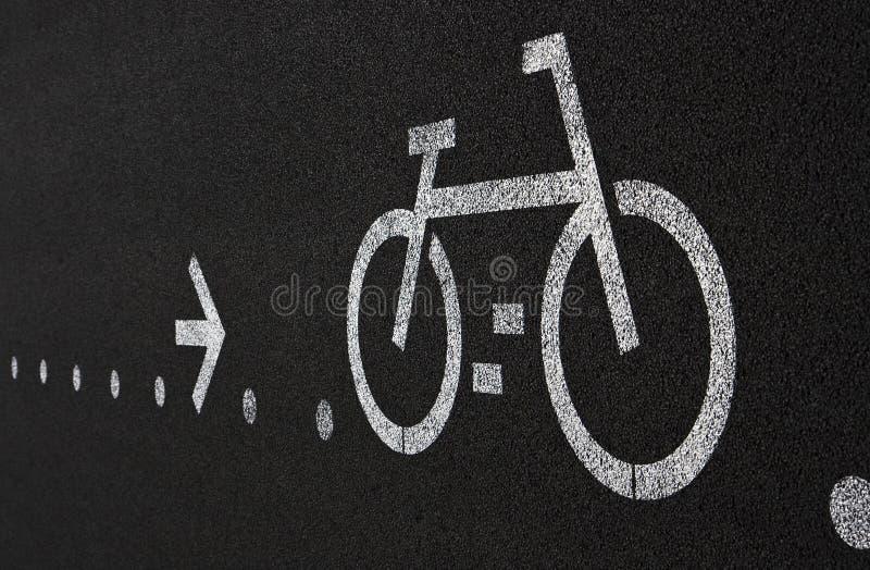 自行车运输路线 图库摄影