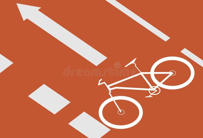 自行车运输路线 向量例证