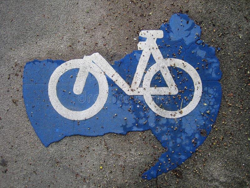 自行车途径符号 库存图片