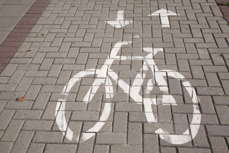 自行车道标志 图库摄影