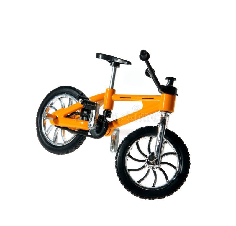 自行车金属小的纪念品黄色 免版税库存图片