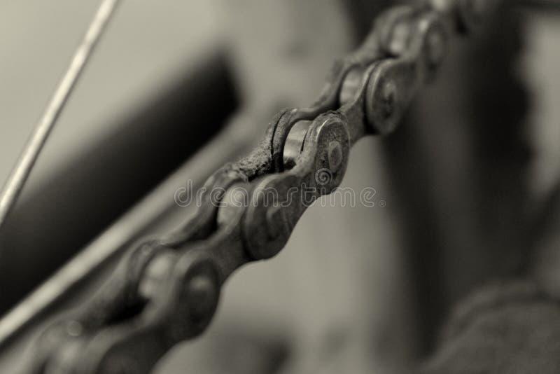 自行车链子 免版税图库摄影