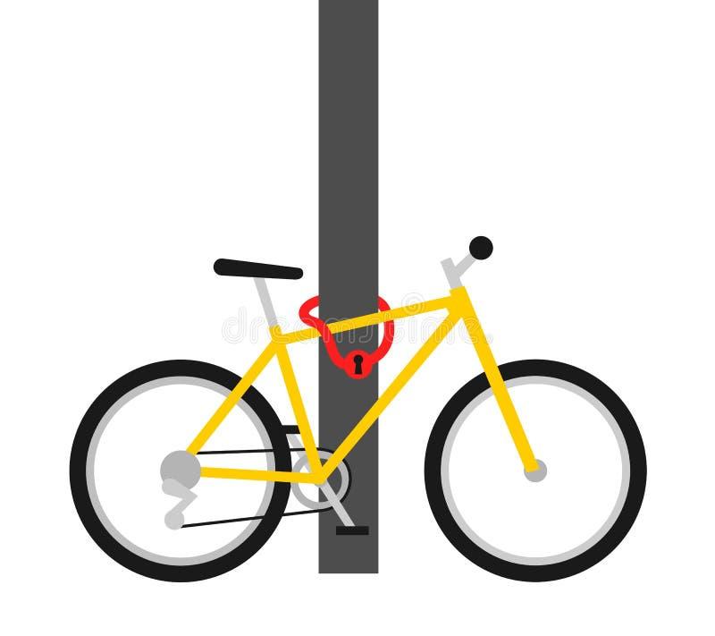 自行车锁-安全和防护窃贼和盗案 皇族释放例证