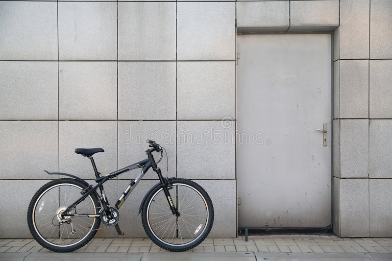 自行车门 库存照片