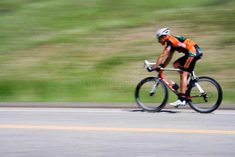 自行车骑士 免版税图库摄影