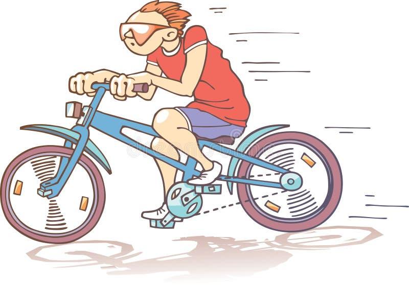 自行车骑士 皇族释放例证