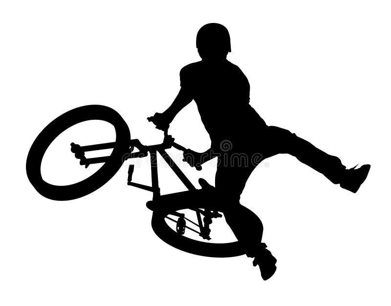 自行车骑士 向量例证
