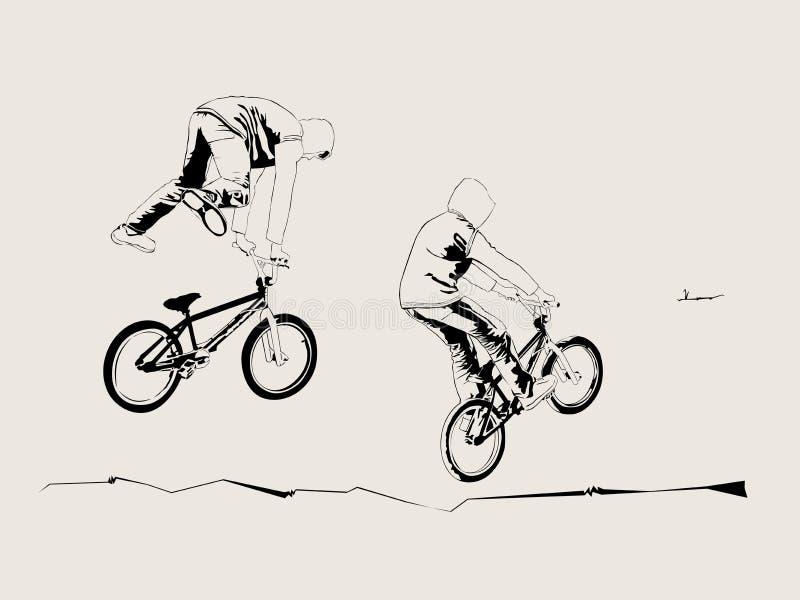 自行车骑士 库存例证