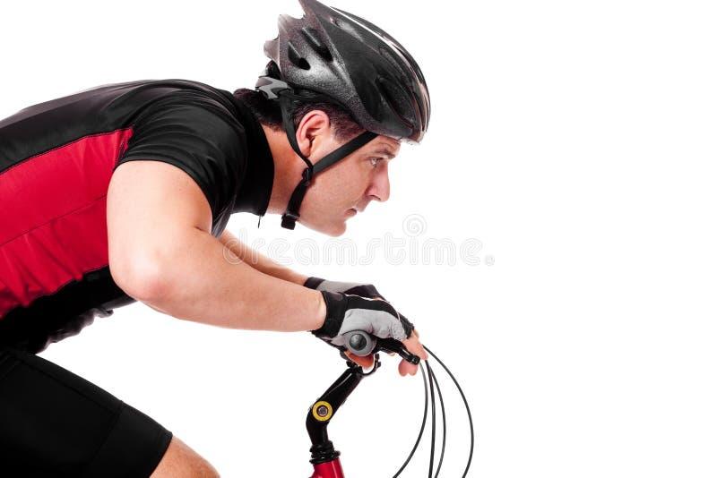 自行车骑自行车者骑马 图库摄影