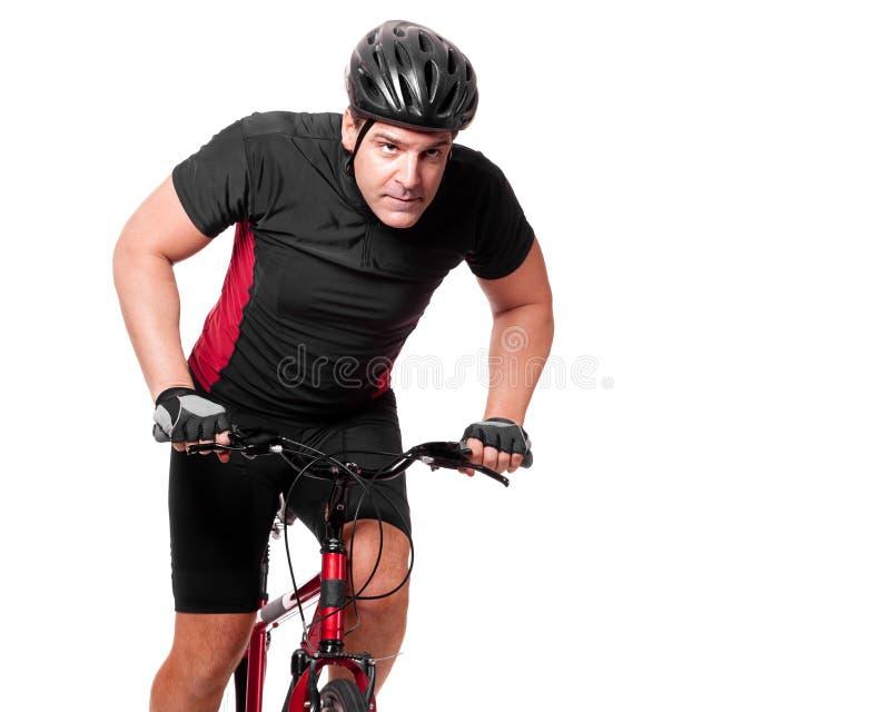 自行车骑自行车者骑马 免版税库存照片