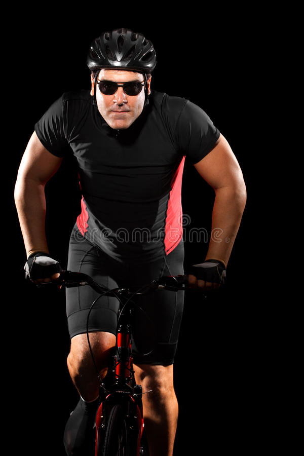 自行车骑自行车者骑马 免版税库存图片