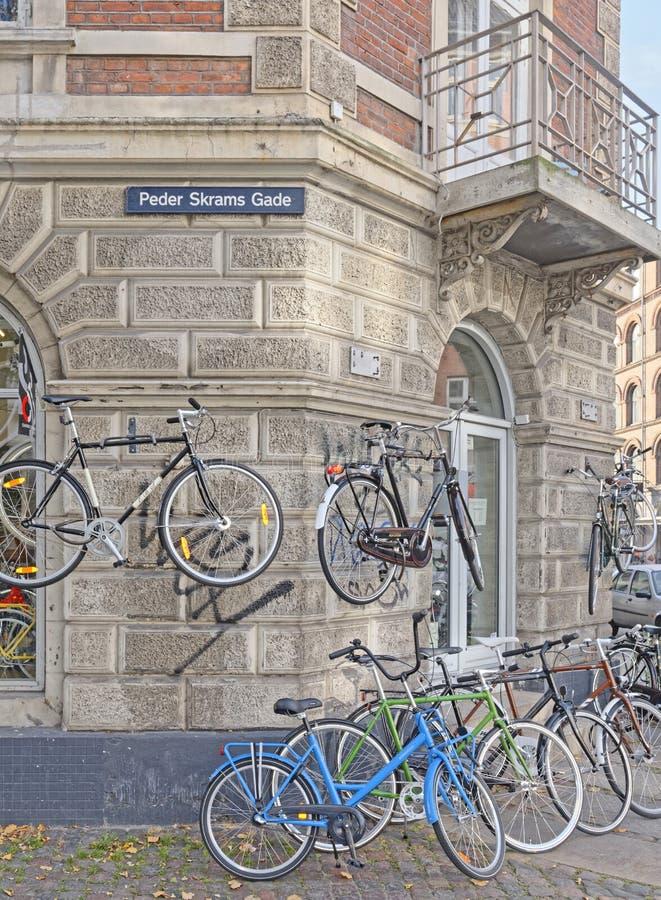 自行车,哥本哈根 库存照片