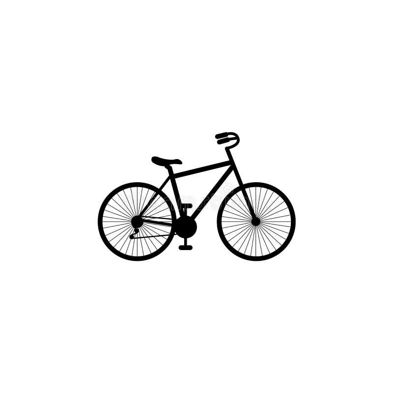 自行车 自行车象传染媒介 循环的概念 在白色背景隔绝的自行车道路的标志 向量例证