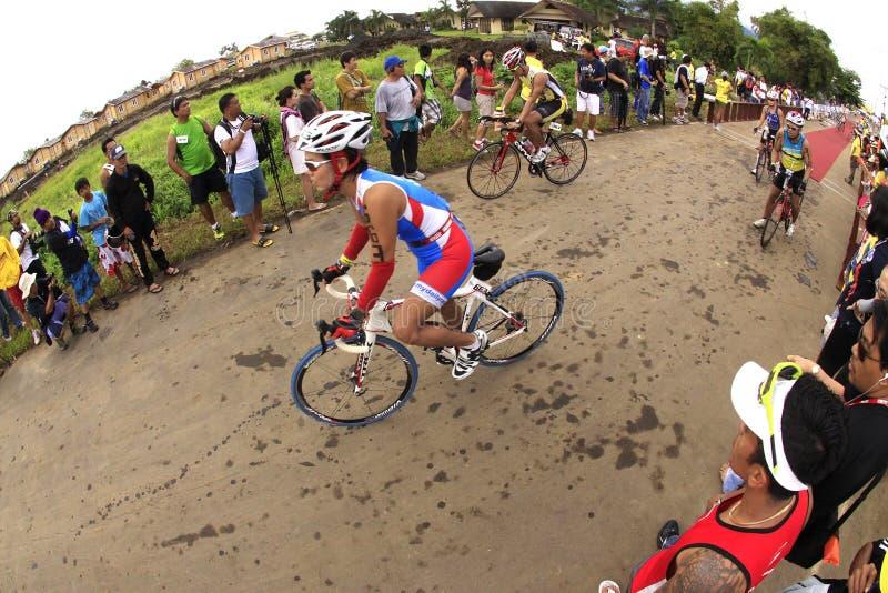 自行车ironman菲律宾种族 图库摄影
