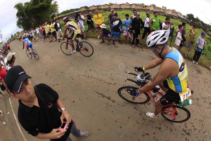 自行车ironman菲律宾种族 免版税库存图片