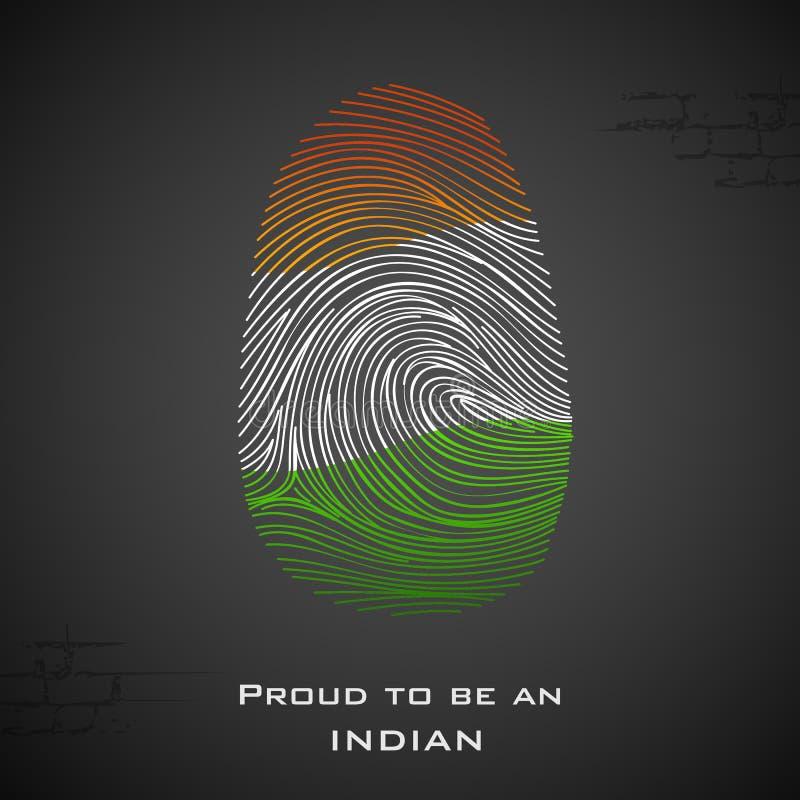 自豪地是印地安人 向量例证