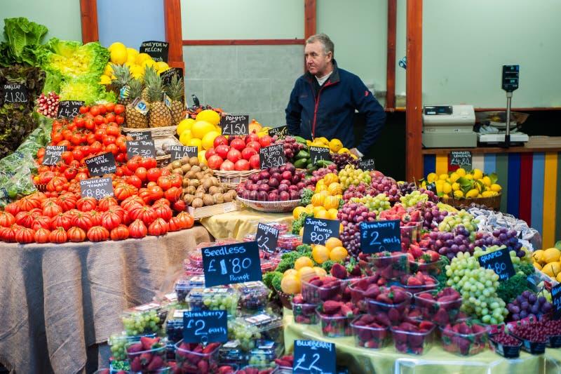自治市镇市场在伦敦 免版税库存照片
