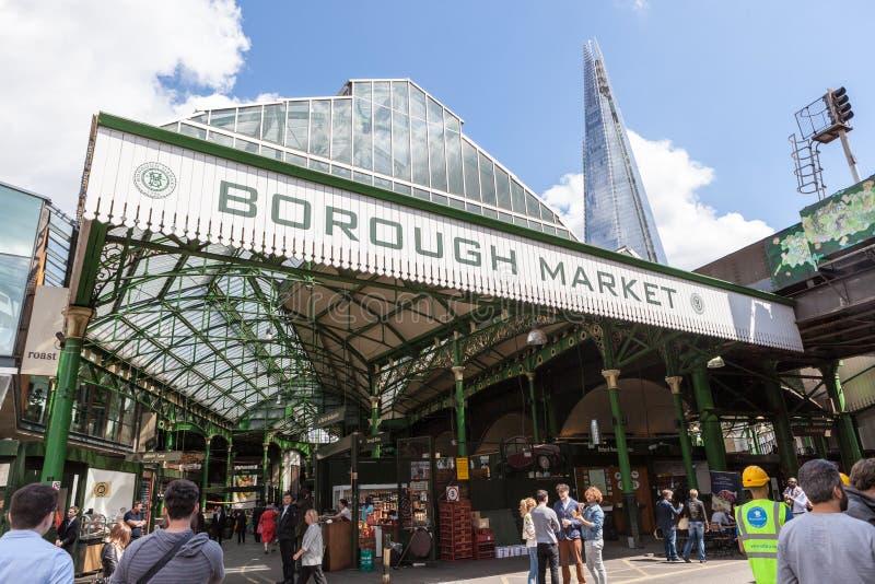 自治市镇市场,在伦敦桥附近 免版税库存图片