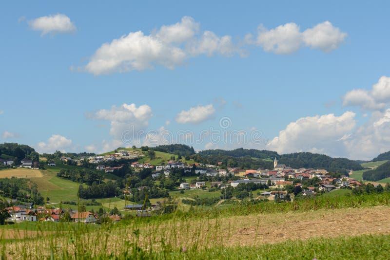 自治市Peilstein -农村社区奥地利 免版税库存照片