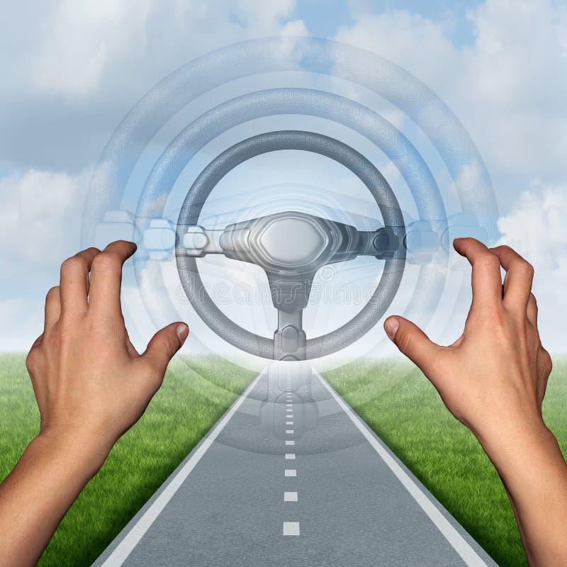 自治驾驶的概念 皇族释放例证
