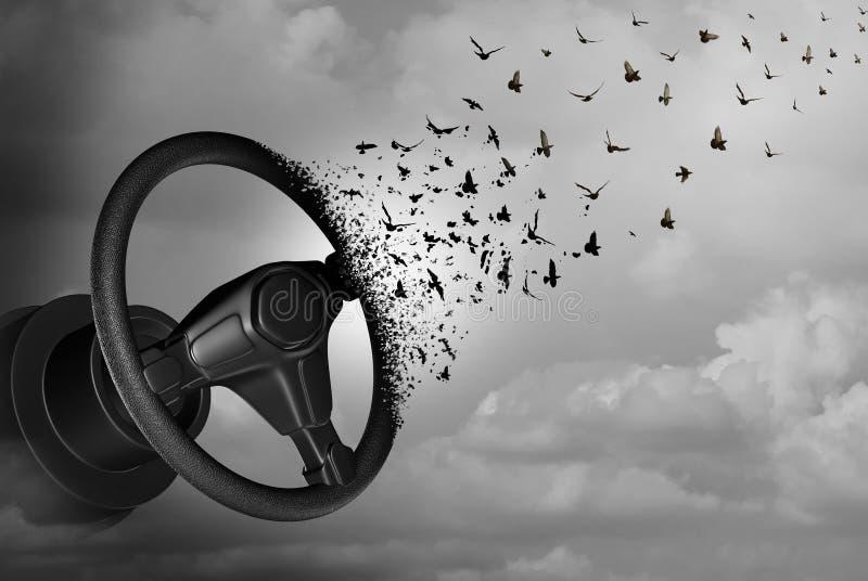 自治驾驶的自动驾驶仪 库存例证