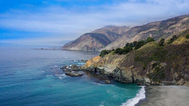 臭名昭著的加利福尼亚美国路线101 免版税图库摄影