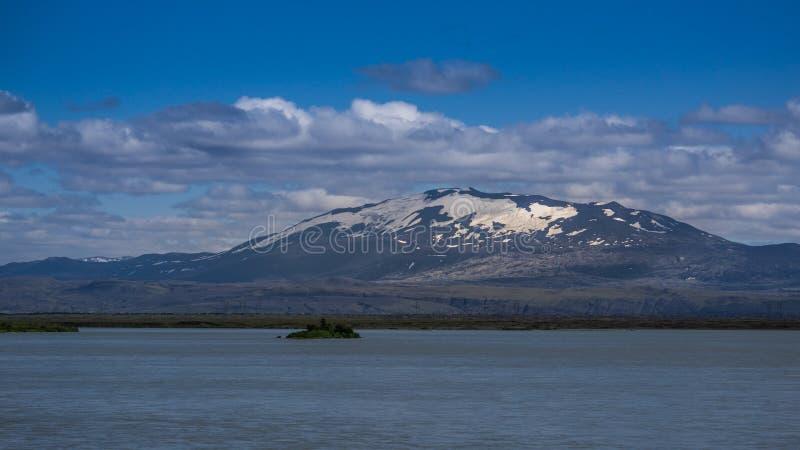 臭名昭著的海克拉火山火山,南冰岛 免版税库存图片