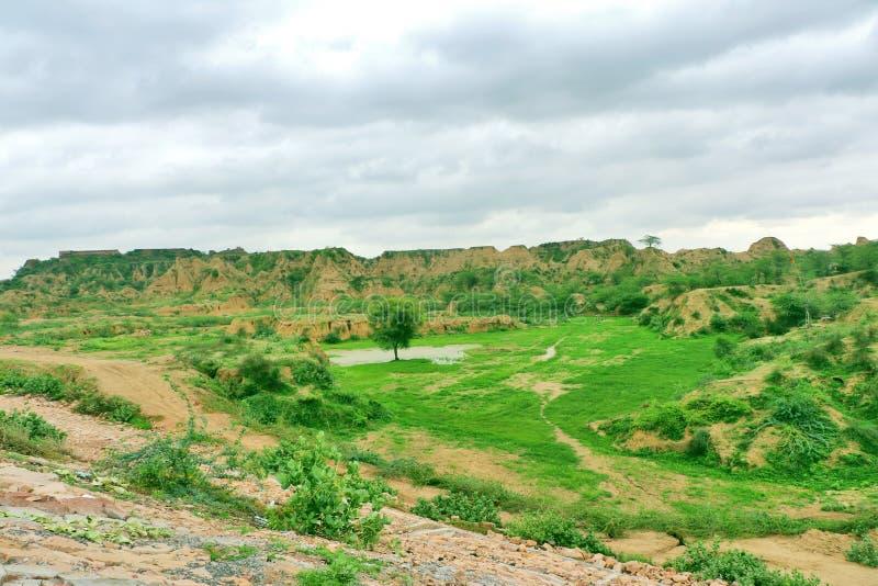 臭名昭著的Chambal谷,叫作dacoits天堂从前 免版税库存图片