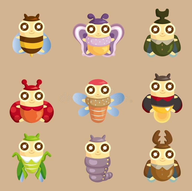 臭虫动画片图标昆虫 库存例证