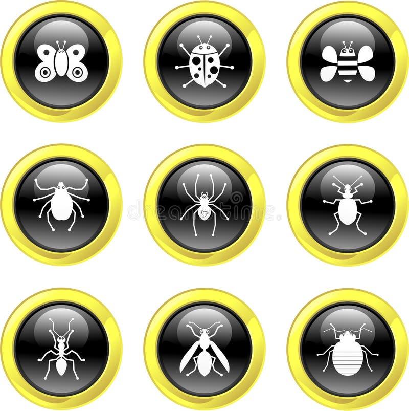 臭虫图标 库存例证