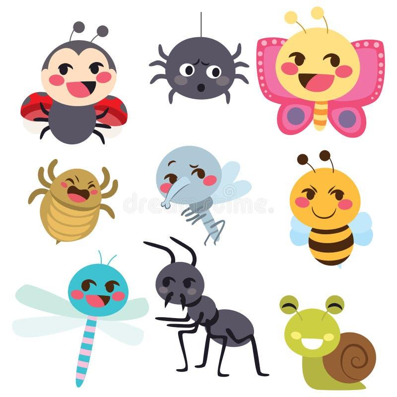 臭虫昆虫集合 向量例证