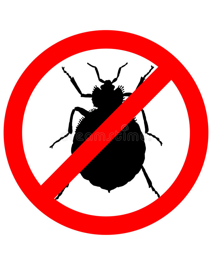 臭虫禁止符号 库存例证