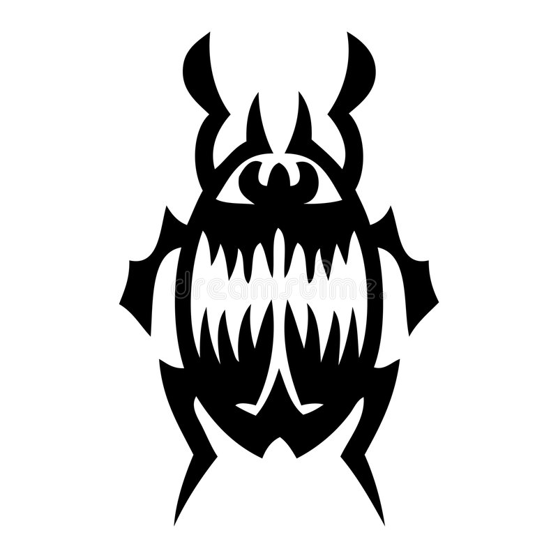 臭虫纹身花刺向量 库存照片