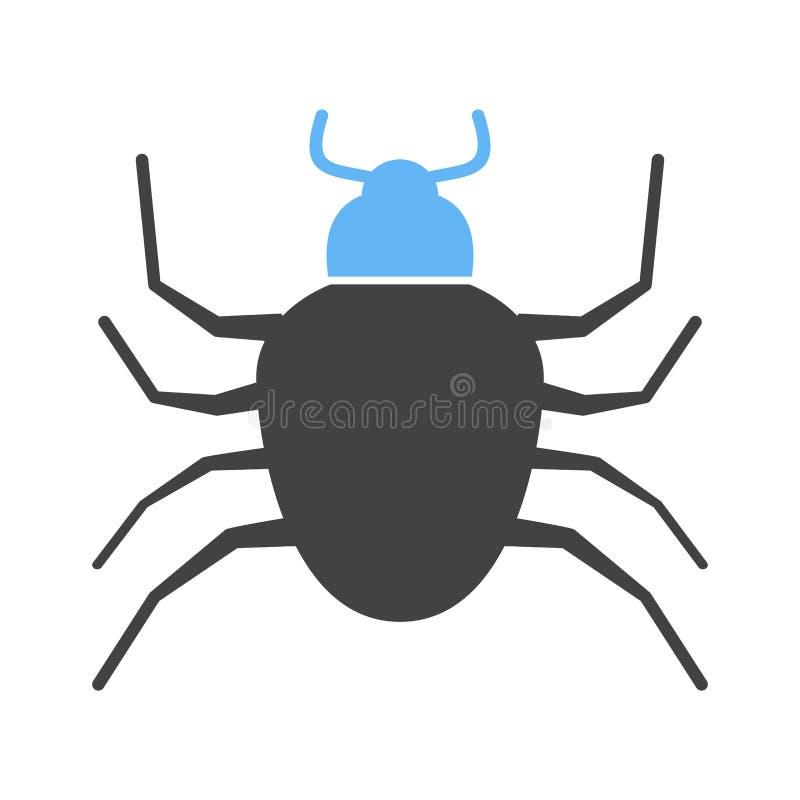 臭虫,履带牵引装置,昆虫 向量例证