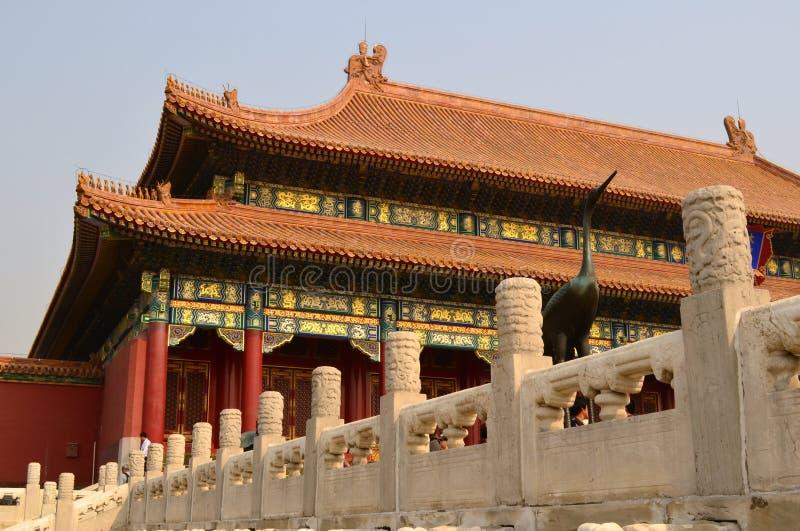 至尊和谐,故宫,北京的霍尔 免版税图库摄影