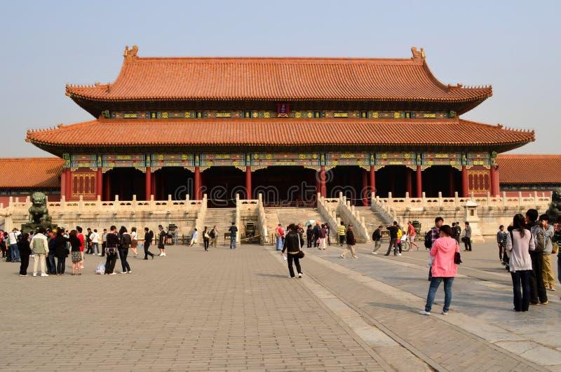 至尊和谐,故宫,北京门  图库摄影