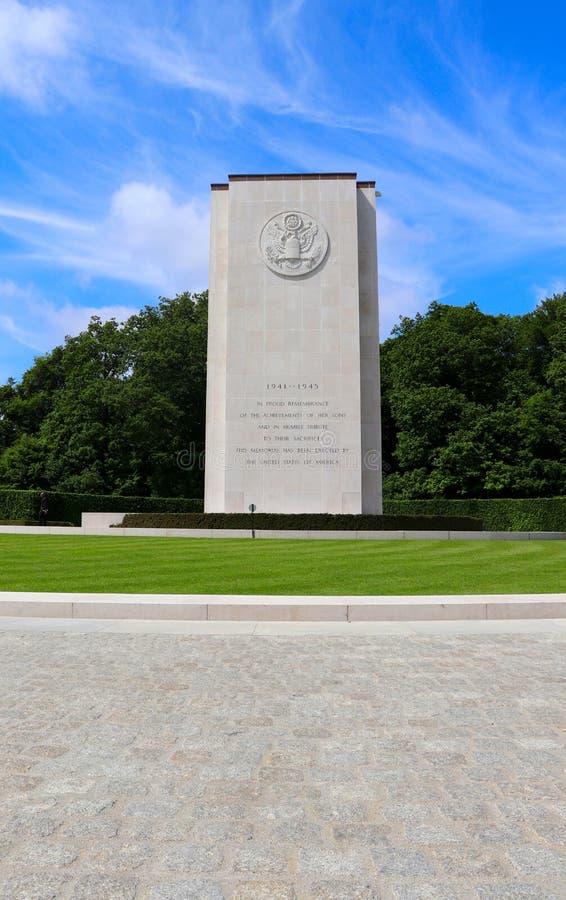 致力战士被埋葬在卢森堡美军公墓和纪念馆 库存照片