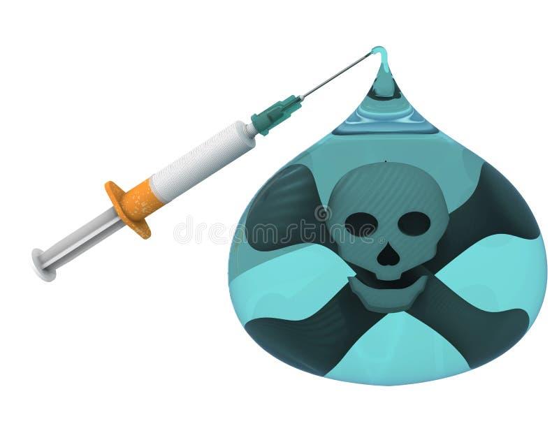 致命的尼古丁上瘾 向量例证