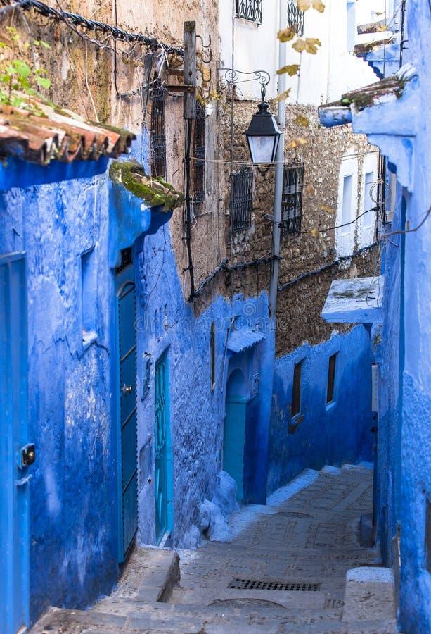 舍夫沙万,摩洛哥麦地那 库存图片