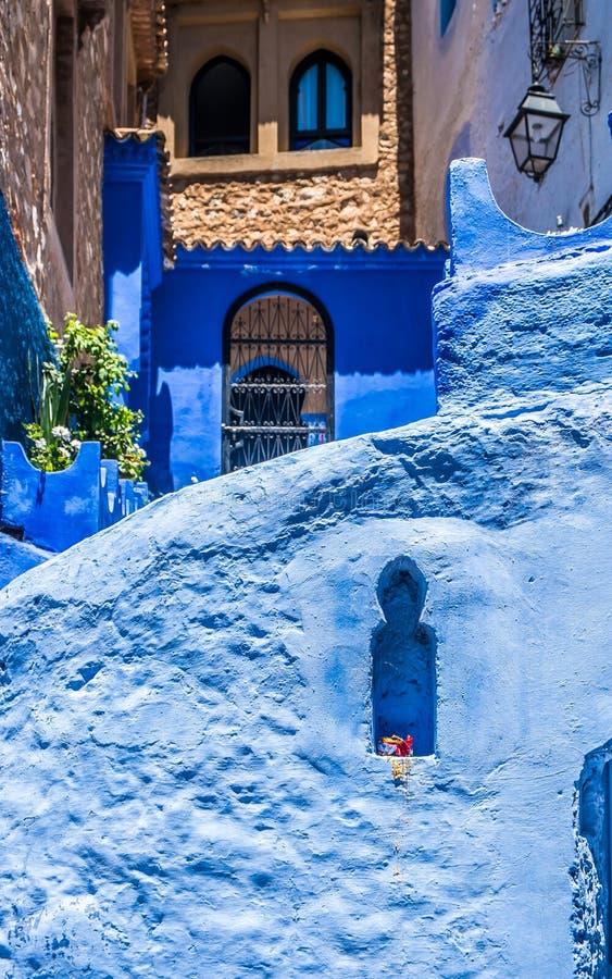 舍夫沙万,摩洛哥 免版税库存图片