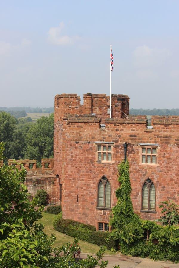 舒兹伯利城堡,舒兹伯利,萨罗普郡 免版税库存照片