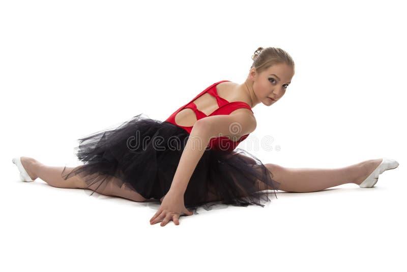 舒展芭蕾舞女演员的图象 库存图片