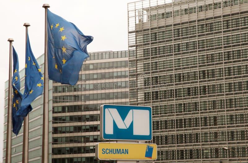 舒曼地铁站乐团在布鲁塞尔 库存图片