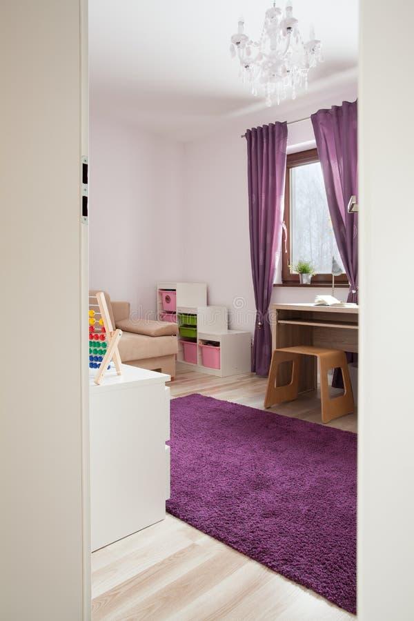 舒适儿童居室 库存照片