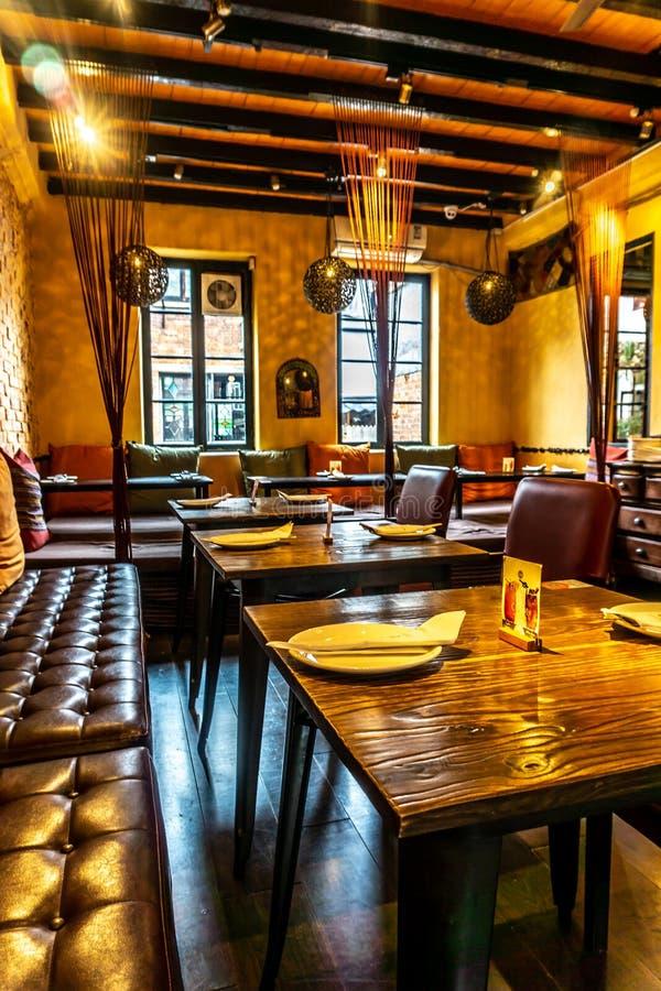 舒适的气氛餐馆2 免版税库存图片