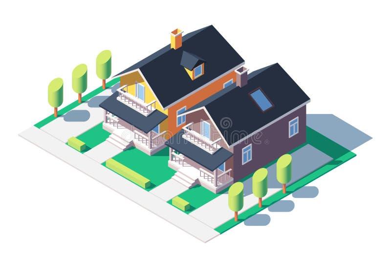 舒适的私有房子 库存例证