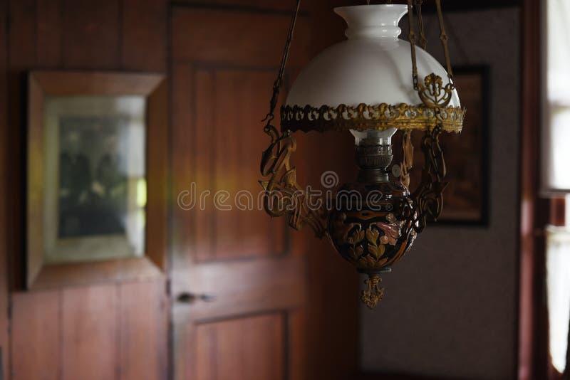 舒适而古老的灯柱 库存照片