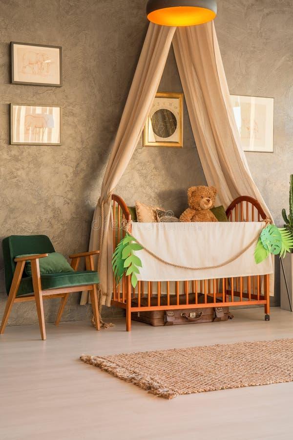 舒适婴孩卧室 免版税库存照片
